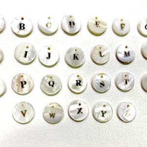 Letras redondas de nácar